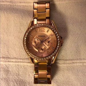 Fossil Rose Gold Riley Watch